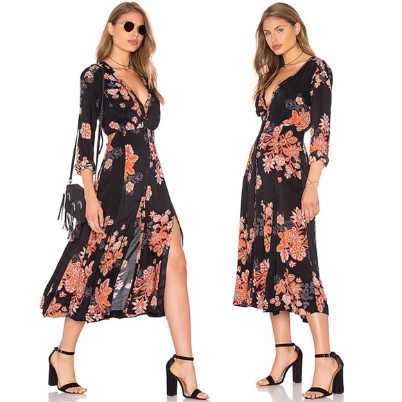 Free People Dresses & Skirts - Free People Miranda Floral Midi Dress